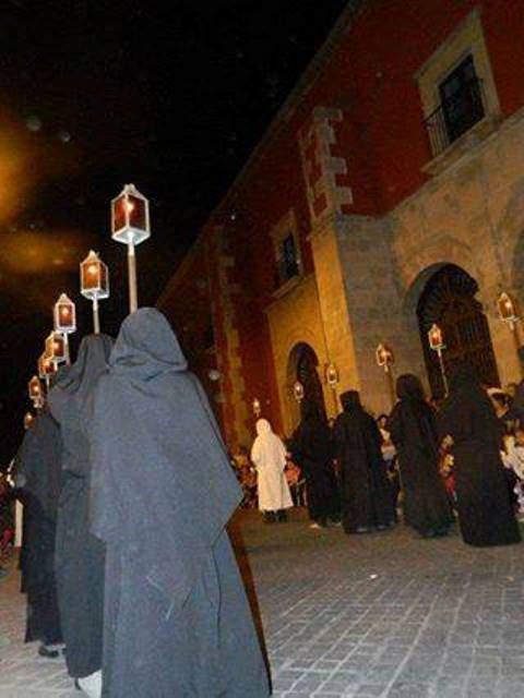 Procesión del Silencio en Salamanca, Guanajuato