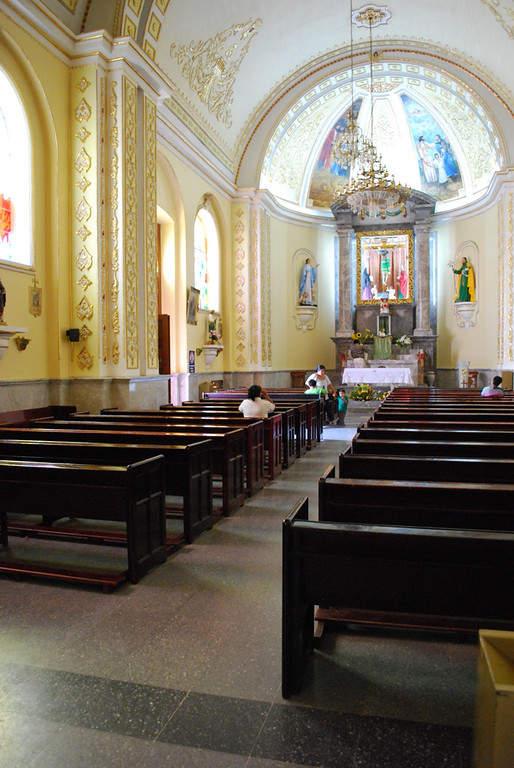 Interior de una iglesia de Ixtapan de la Sal