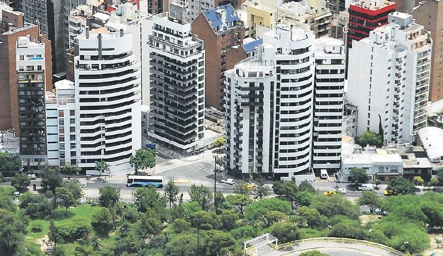 Edificios en barrio de Nueva Córdoba