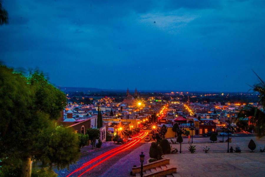 Anochecer sobre Lagos de Moreno