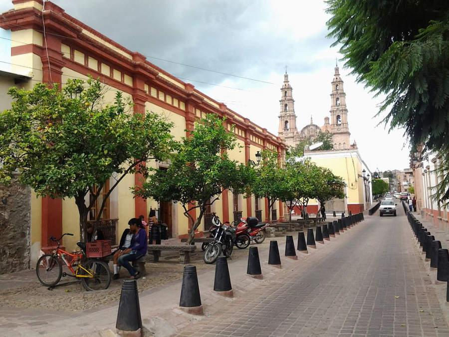 Calle en el centro de Lagos de Moreno, Jalisco