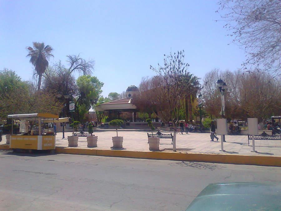 Plaza principal en Gómez Palacio