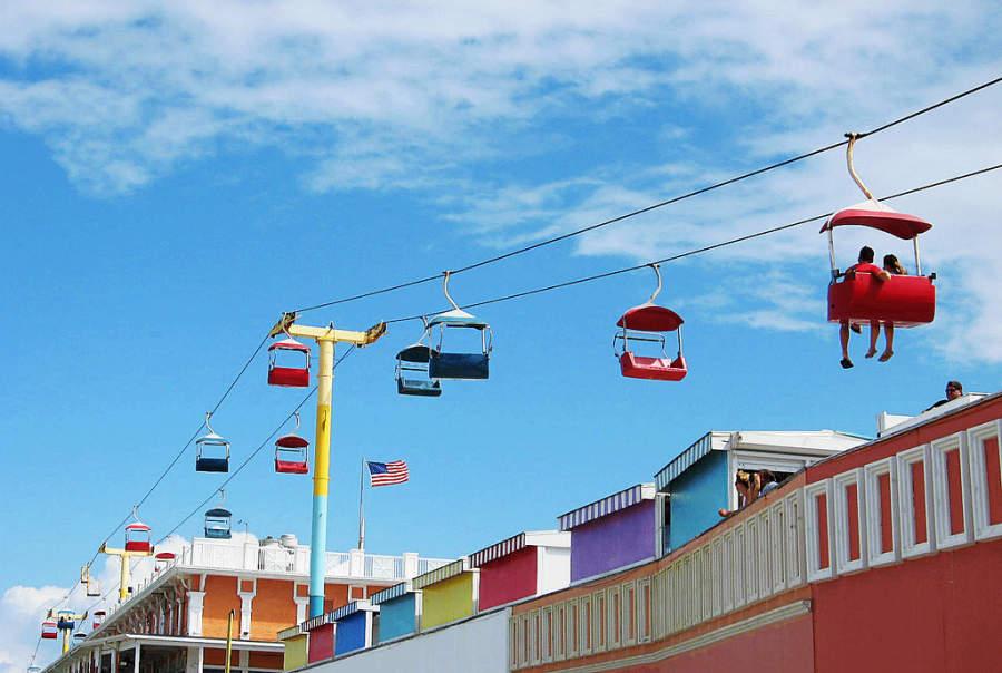 Daytona Beach cuenta con un colorido teleférico que recorre la ciudad