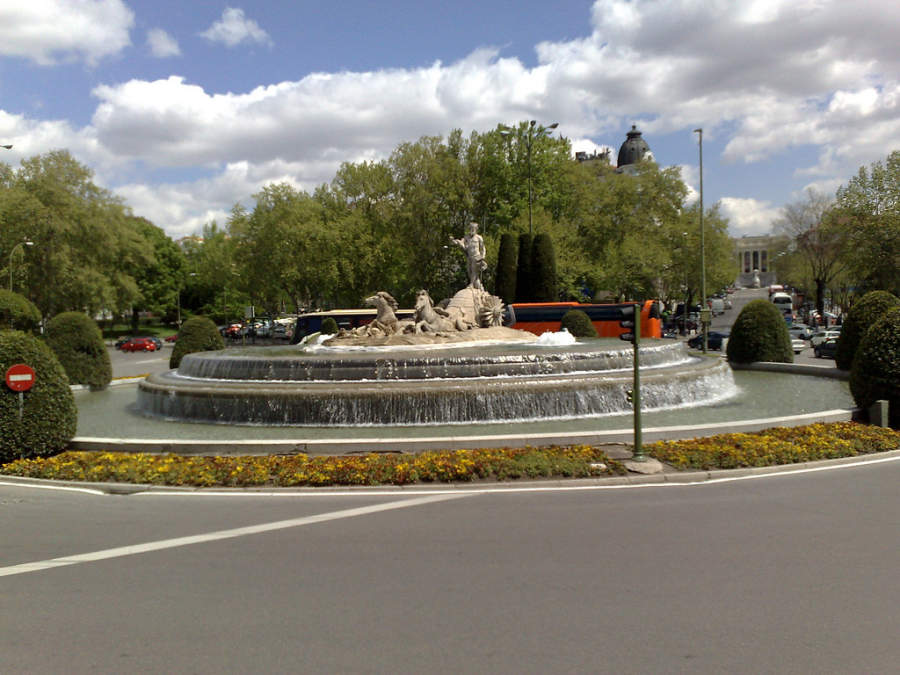 Fuente de Neptuno en Madrid
