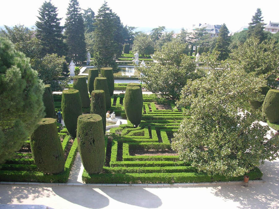 Jardines de Sabatini en Madrid