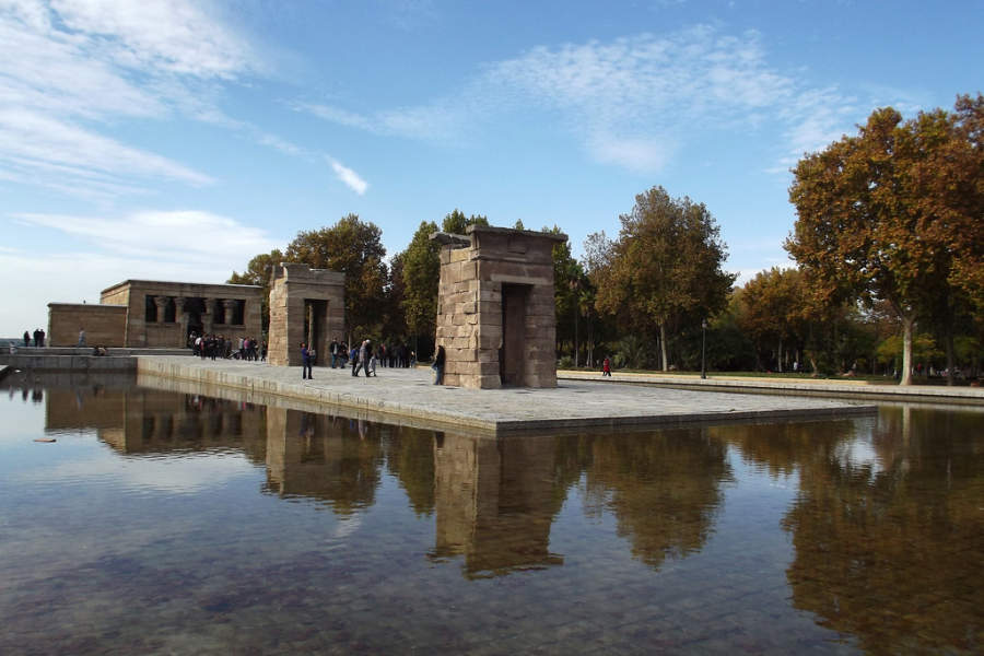 Templo de Debod, de origen egipcio trasladado a España en agradecimiento