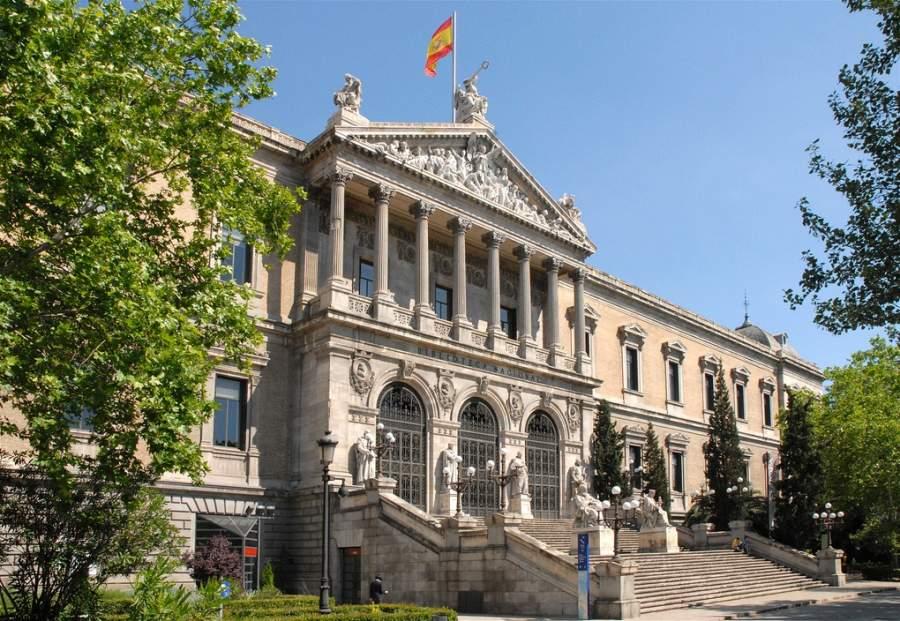 Biblioteca Nacional en la Plaza de Colón en Madrid