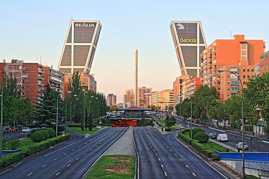 Paseo de la Castellana en Madrid