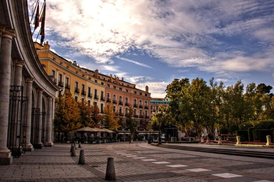 Plaza de Oriente en Madrid, España