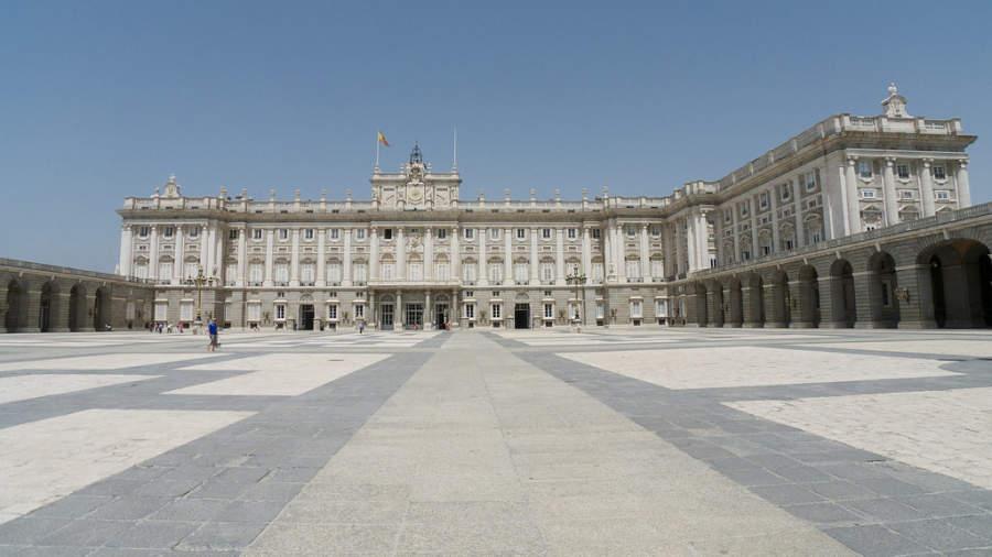 Palacio Real en Madrid, en la Plaza de Oriente