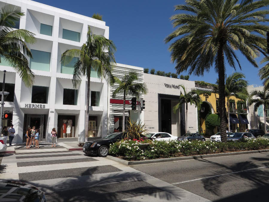 Rodeo Drive en Beverly Hills alberga exclusivas boutiques