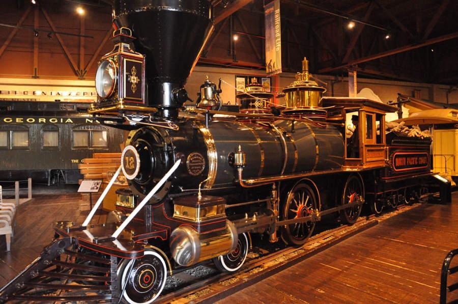 Una antigua máquina de vapor en Sacramento