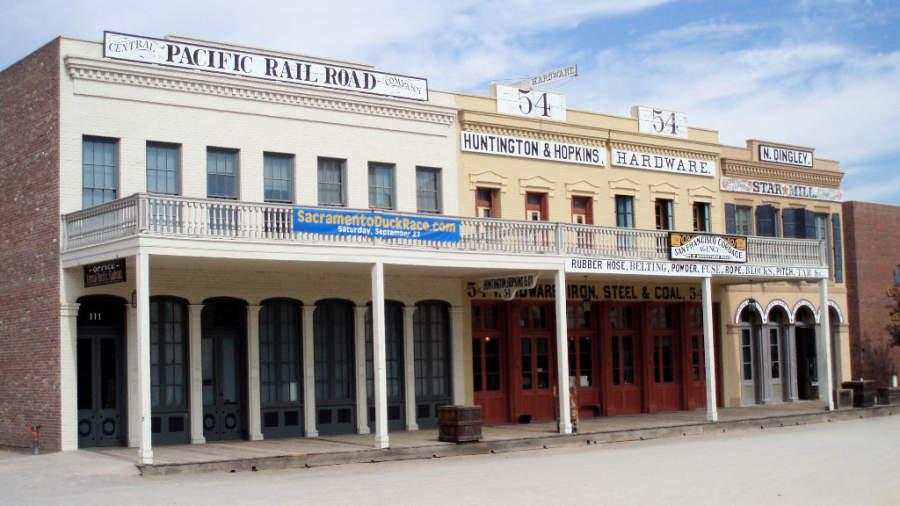 Old Sacramento es un barrio antiguo en la ciudad de Sacramento