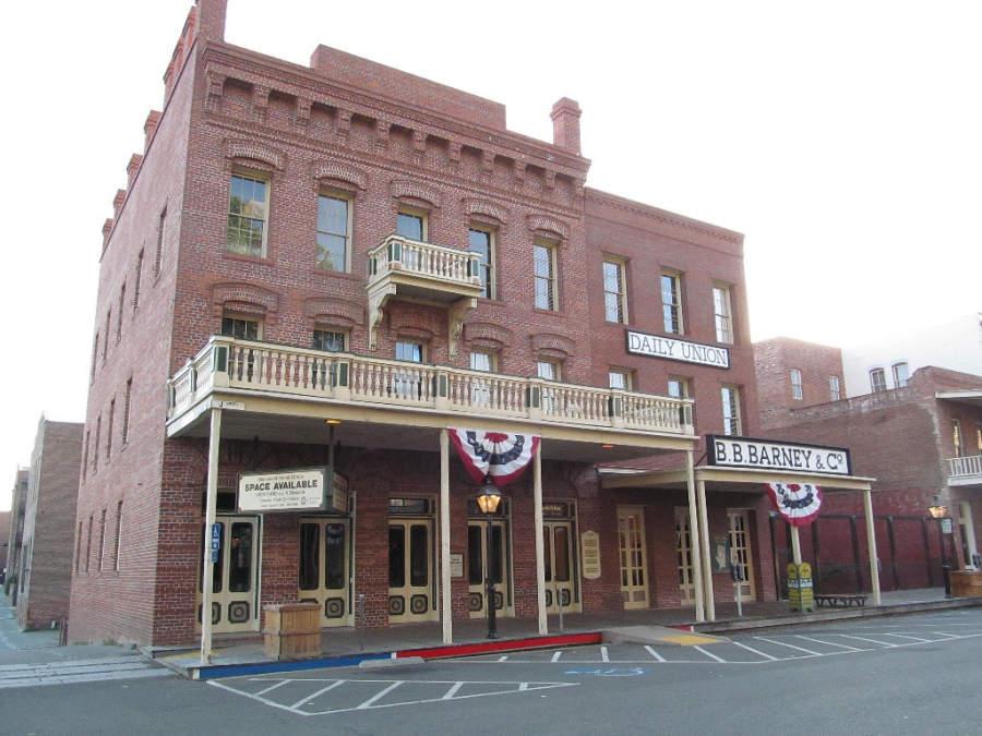 En Old Sacramento hay construcciones que remontan al viejo oeste