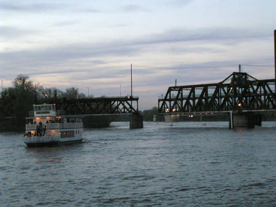 Vista del río Sacramento
