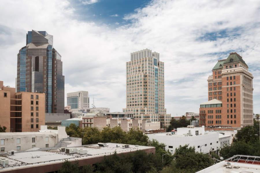 Vista panorámica del centro de Sacramento