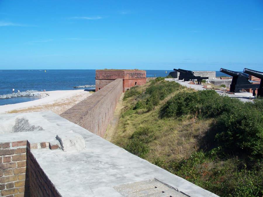 Parque Estatal Fort Clinch en Fernandina Beach