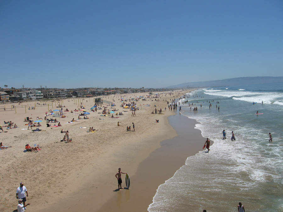 Manhattan Beach se ubica en el norte de Redondo Beach