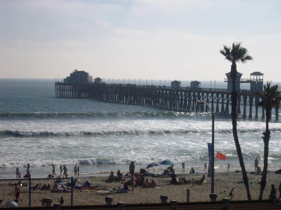 Muelle de la ciudad de Oceanside, ubicada entre San Diego y Los Ángeles