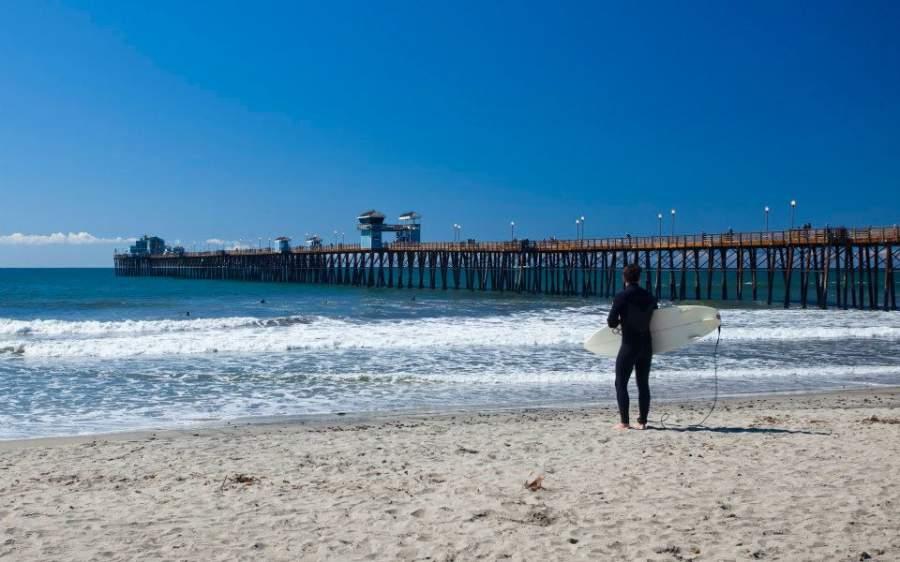 Las playas de Oceanside son ideales para la práctica de surf