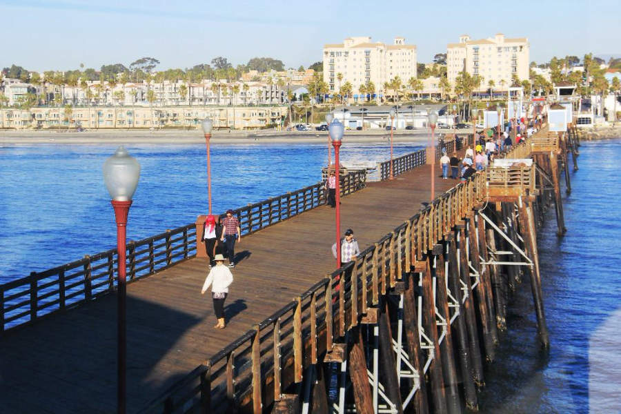 Muelle de Oceanside, uno de los principales atractivos de esta ciudad californiana