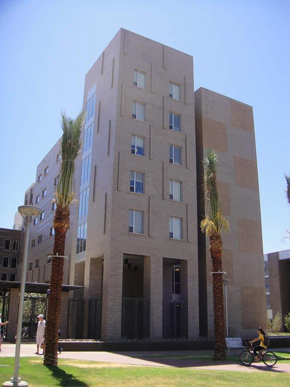 Uno de los edificios de la Universidad Estatal de Arizona campus Tempe