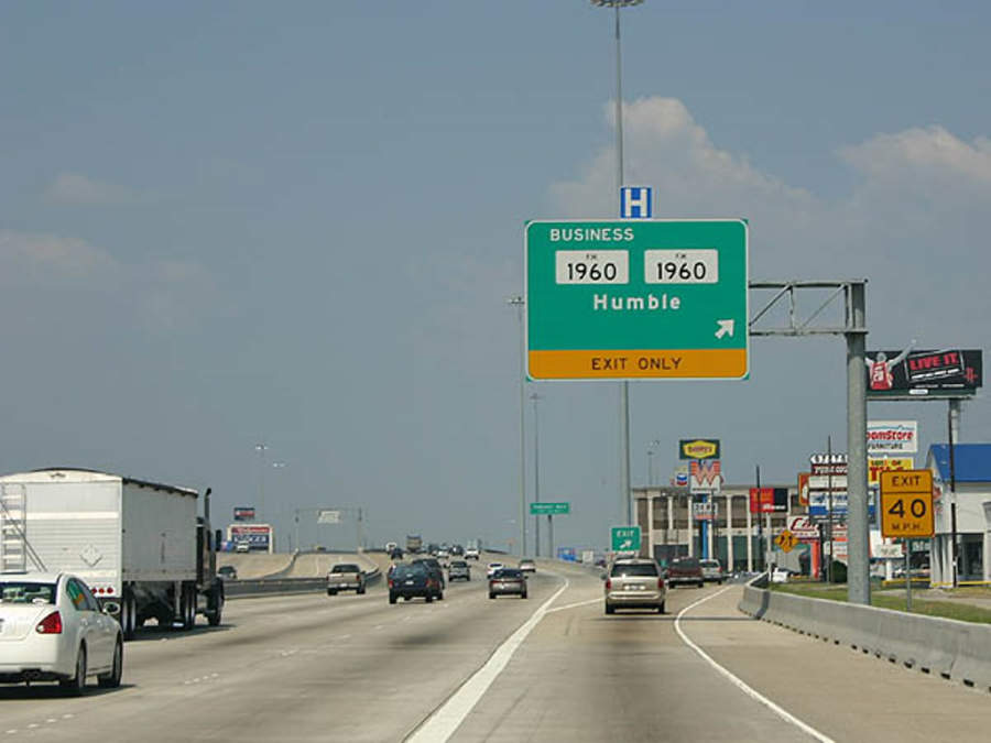 Autopista en Humble, Texas, Estados Unidos