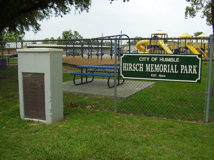 El parque Hirsch Memorial está considerado sitio histórico de Humble