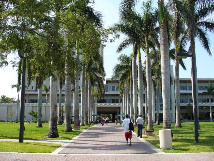 Área pública de la Universidad de Miami en Coral Gables