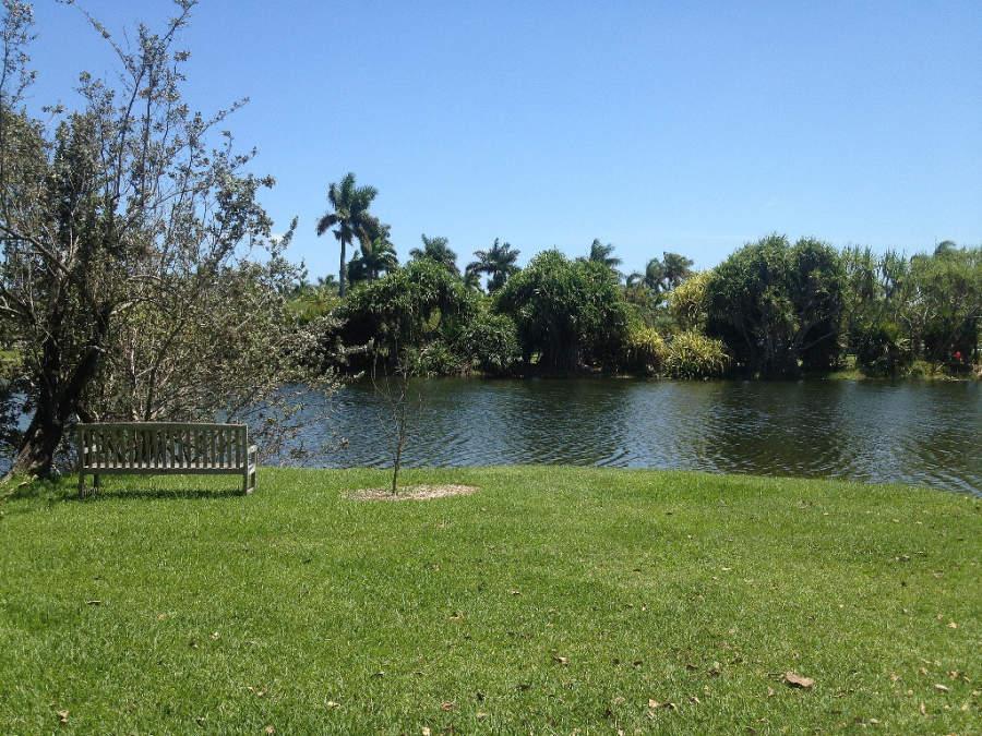 Canal en el jardín botánico Fairchild Tropical