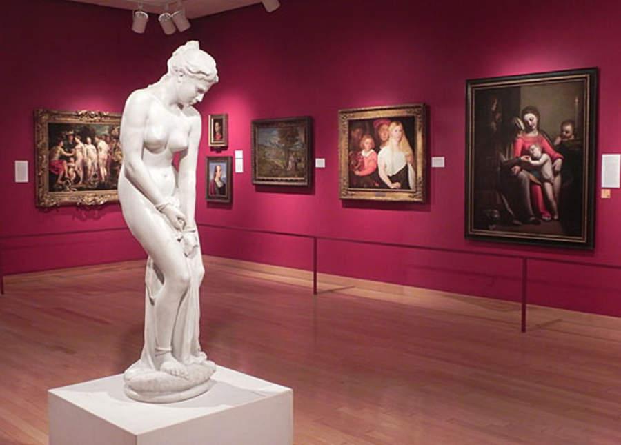 Interior del museo Lowe Art, Coral Gables, Florida