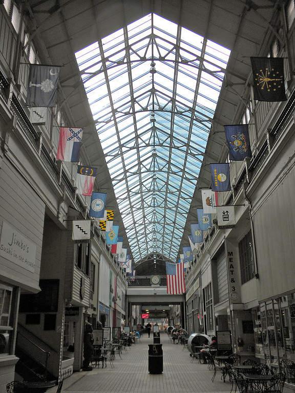 Centro comercial Arcade en la ciudad de Nashville