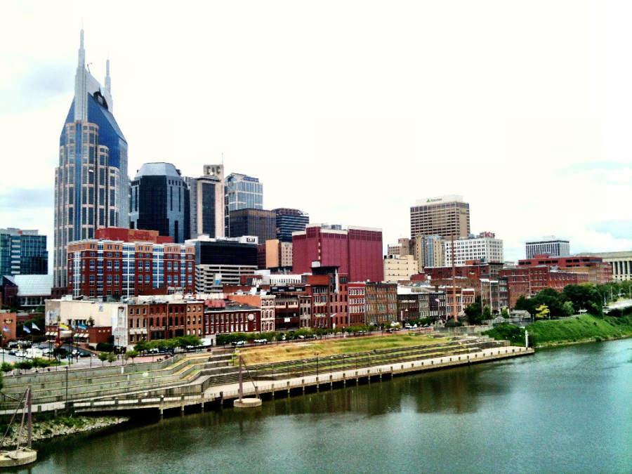 Vista de Nashville desde el río