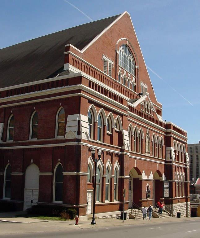 Auditorio Ryman, ícono de la industria de la música country en Nashville