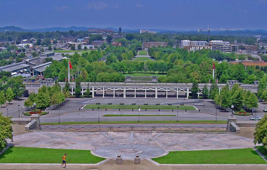 Vista del Parque Estatal Bicentennial en Nashville