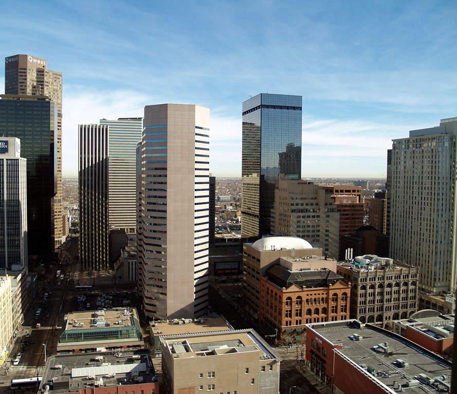 Paisaje urbano del centro de la ciudad de Denver