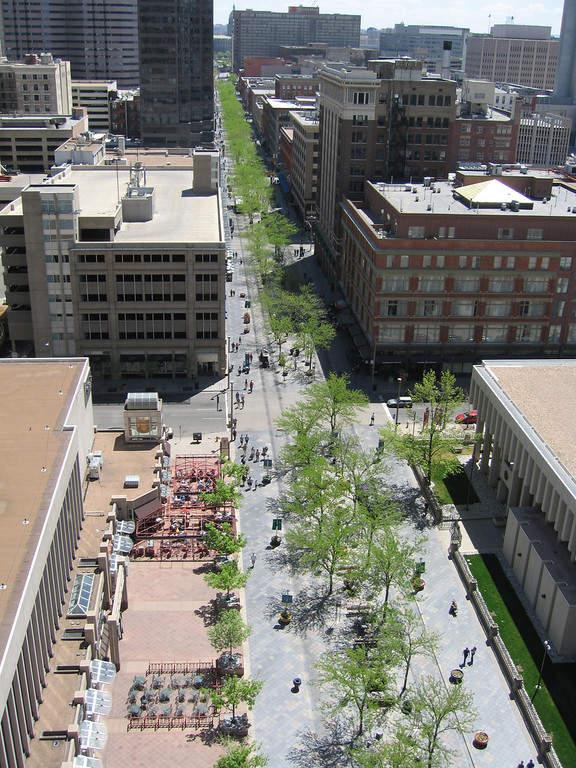 Una calle en el centro de Denver