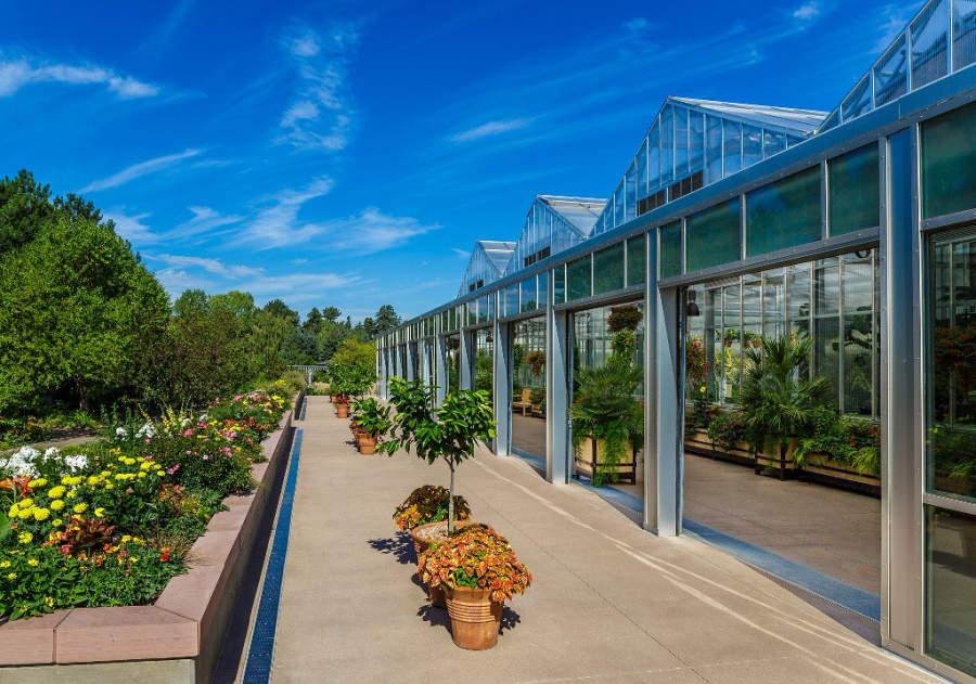 Área de invernaderos en el Jardín Botánico de Denver