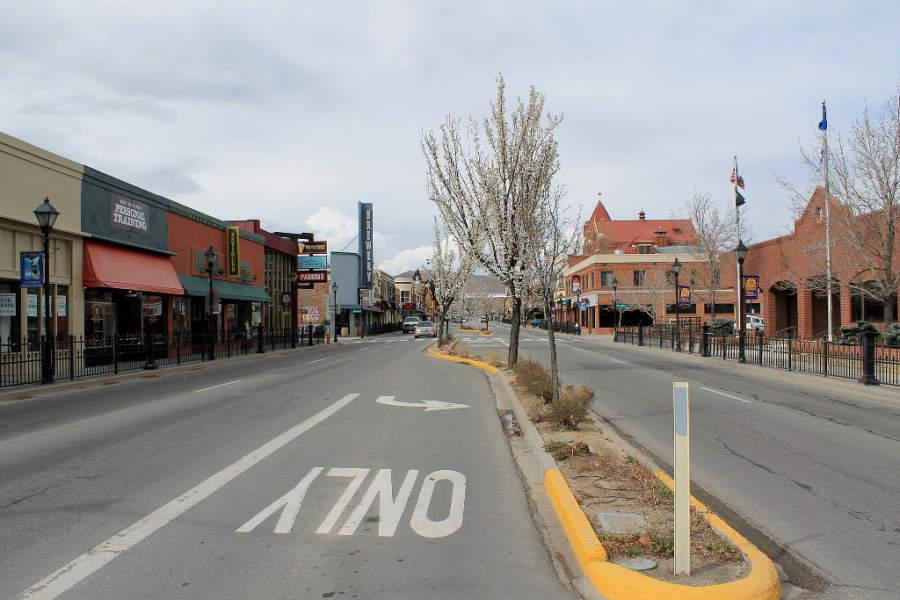 Calle en Carson City, Nevada