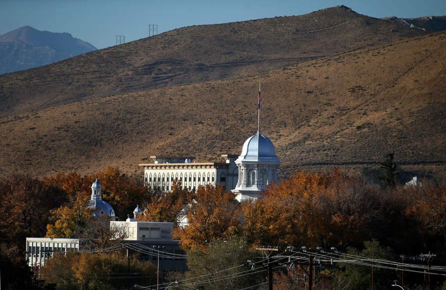 Vista del centro de la ciudad de Carson City, junto al lago Tahoe