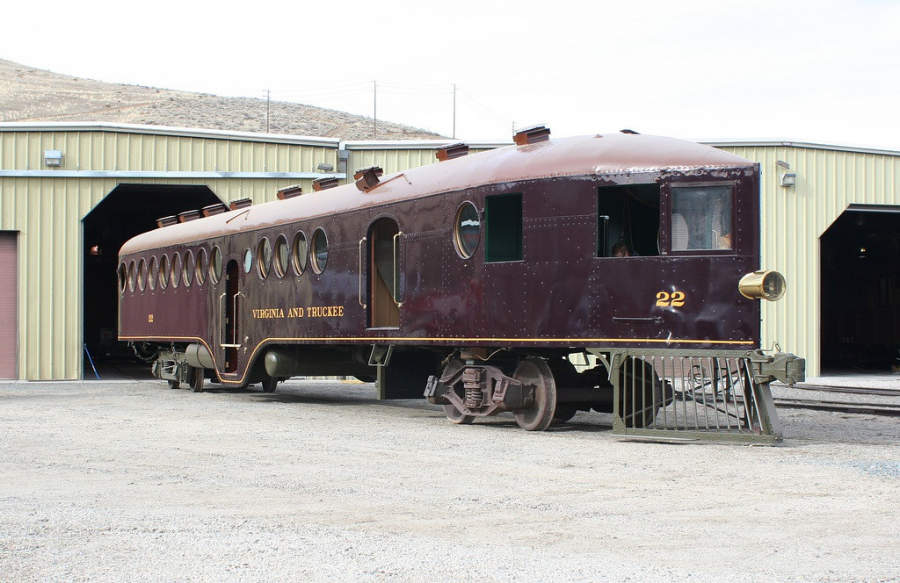 Locomotora del Museo Estatal del Ferrocarril de Nevada en Carson City