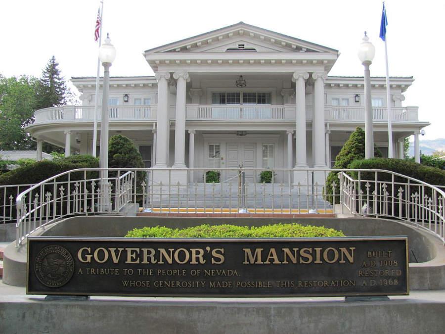 Mansión del Gobernador en Carson City, construida en 1908