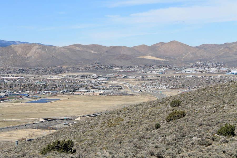 Vista de la ciudad de Carson City, Nevada