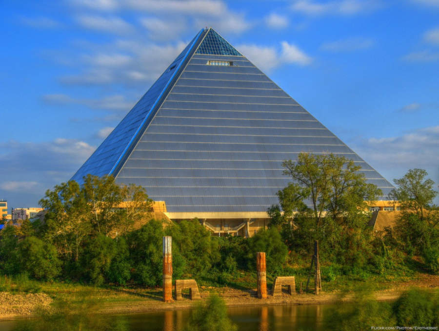 Pabellón deportivo Pyramid Arena en Memphis, Tennessee