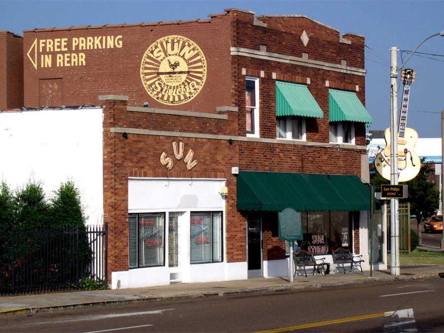 Sun Studio, en donde Elvis Presley realizó sus primeras grabaciones