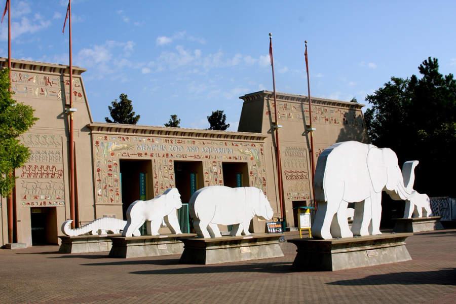 Exterior del Zoológico y Acuario de Memphis