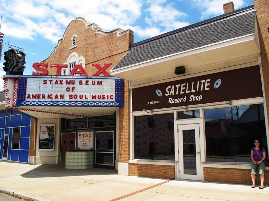 Entrada del museo Stax Museum of American Soul Music en Memphis