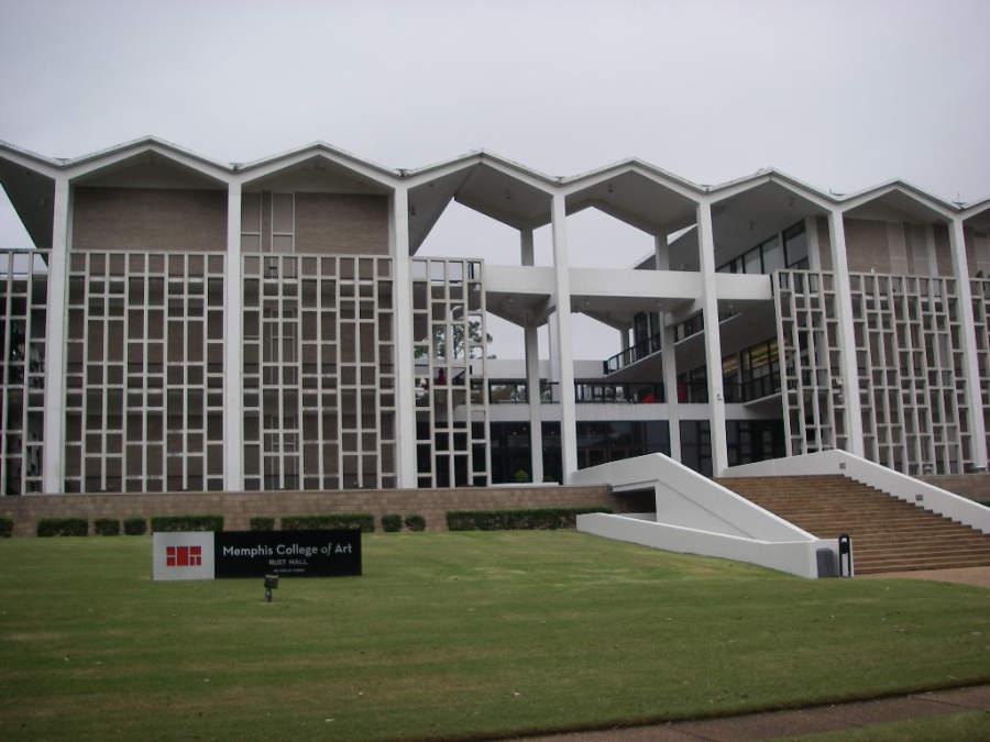 Exterior del Colegio de Arte de Memphis, Tennessee