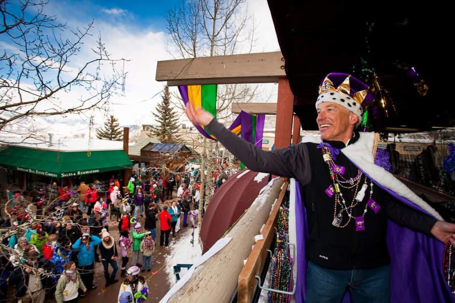 Celebraciones del Mardi Gras en Snowmass Village