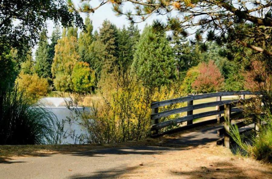 El campo de golf en Lynnwood cuenta con 18 hoyos